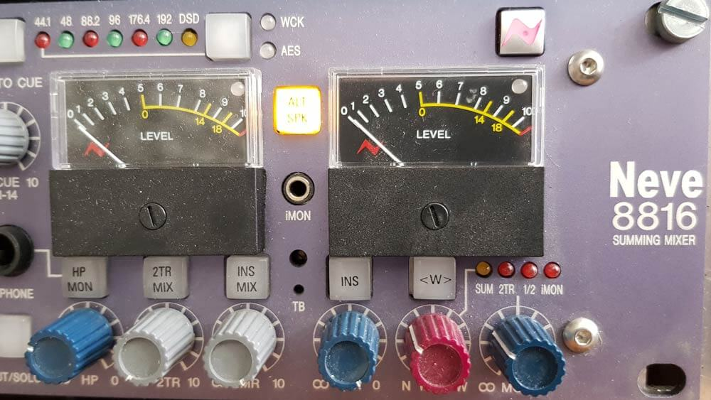 Mastering Neve 8816 front